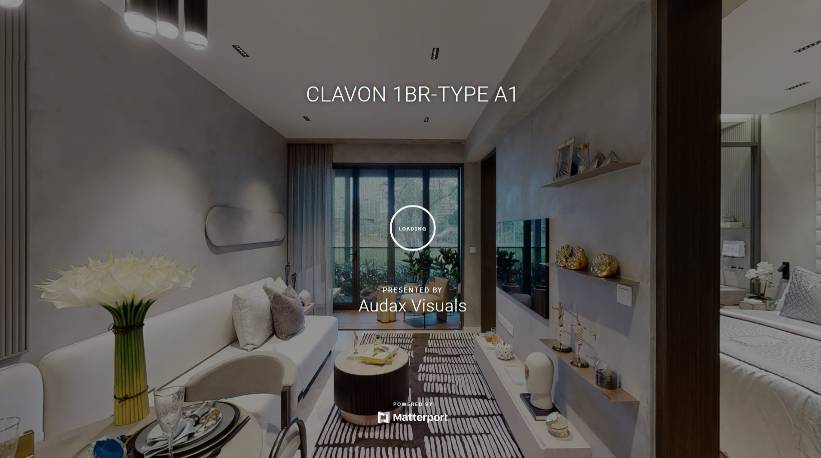 3D Virtual Tour of Clavon 1 Bedroom Type A1
