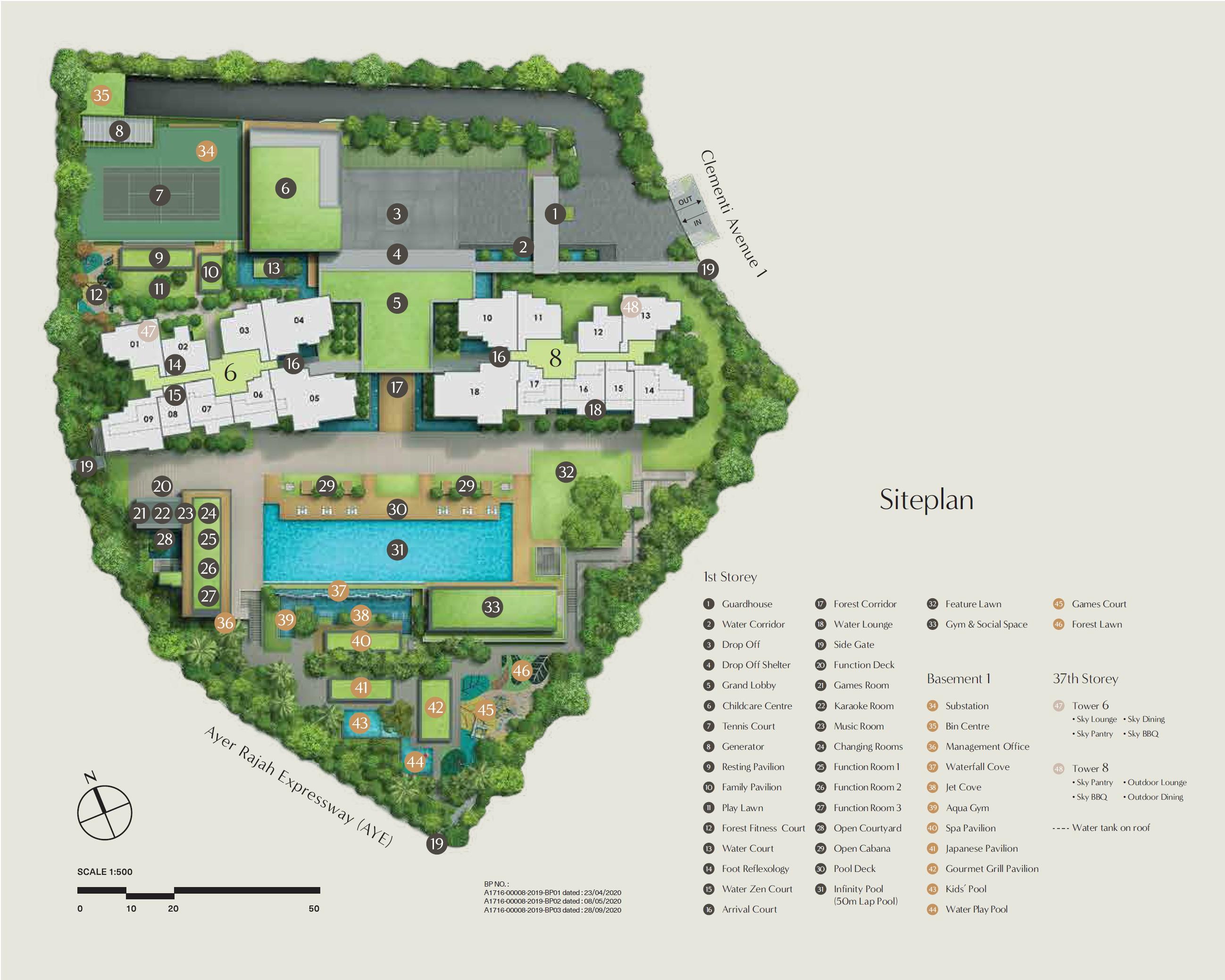 Clavon site plan