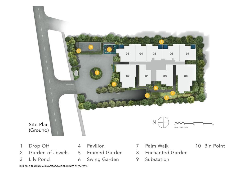 Jervois Privé site plan