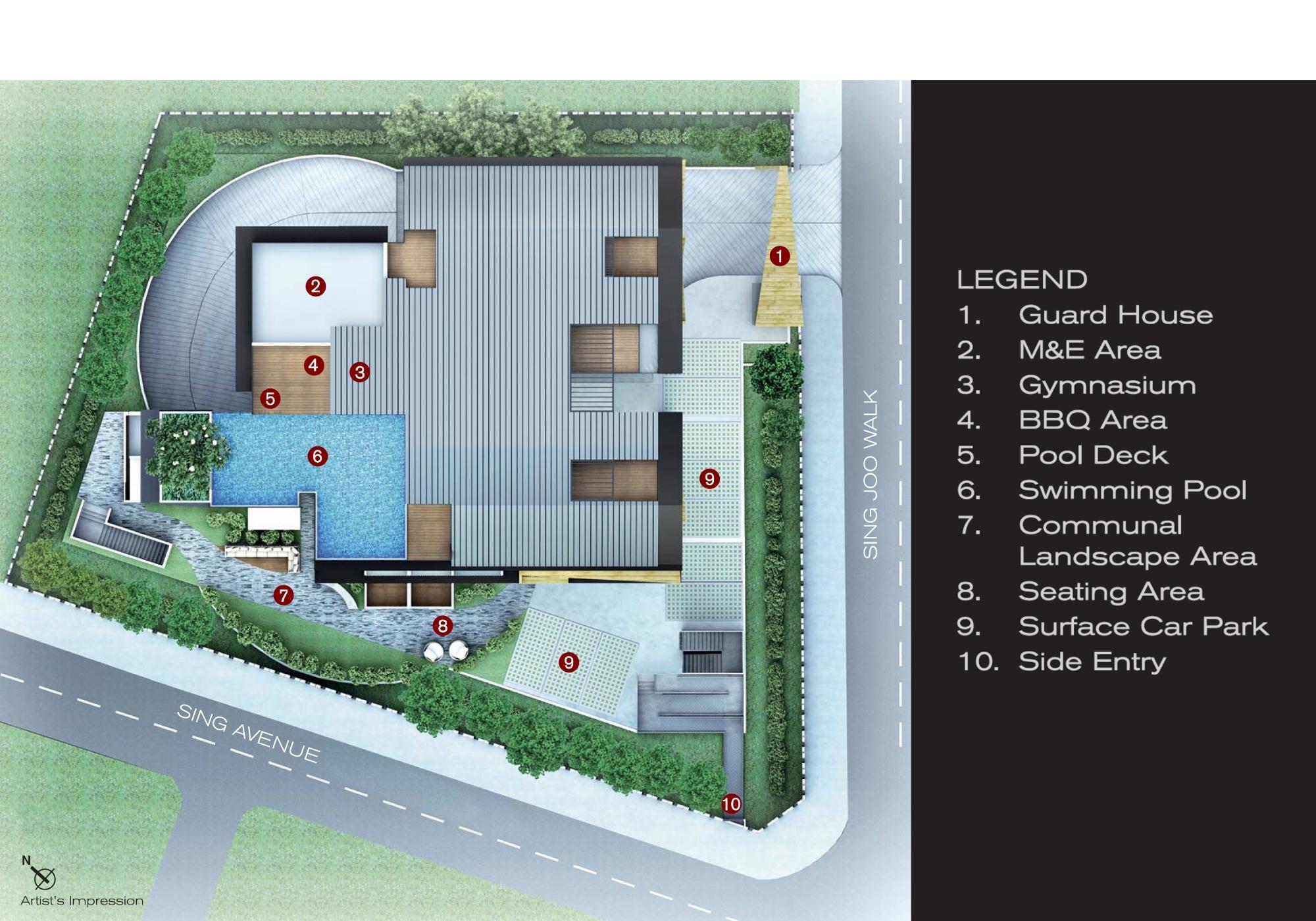 8 Farrer Suites site plan