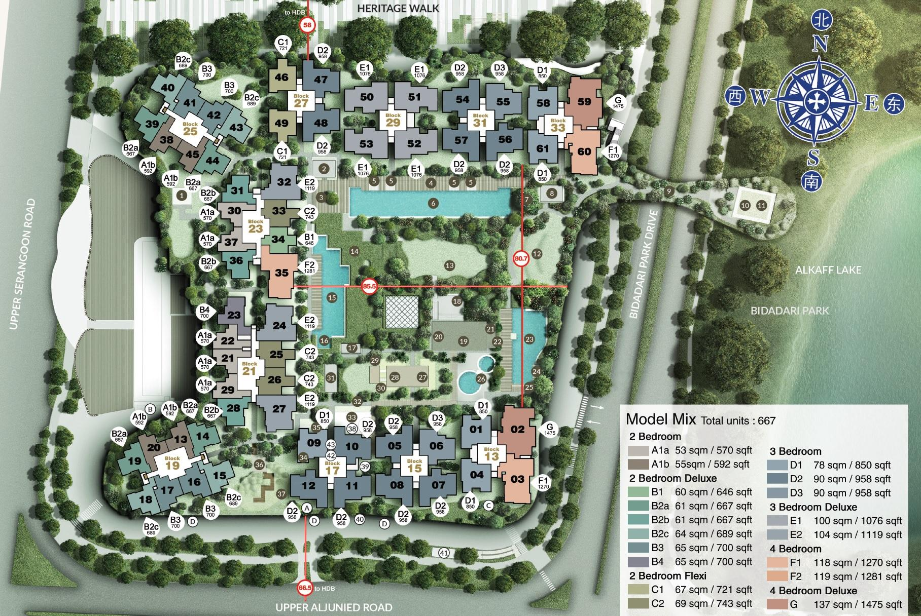 The Woodleigh Residences site plan