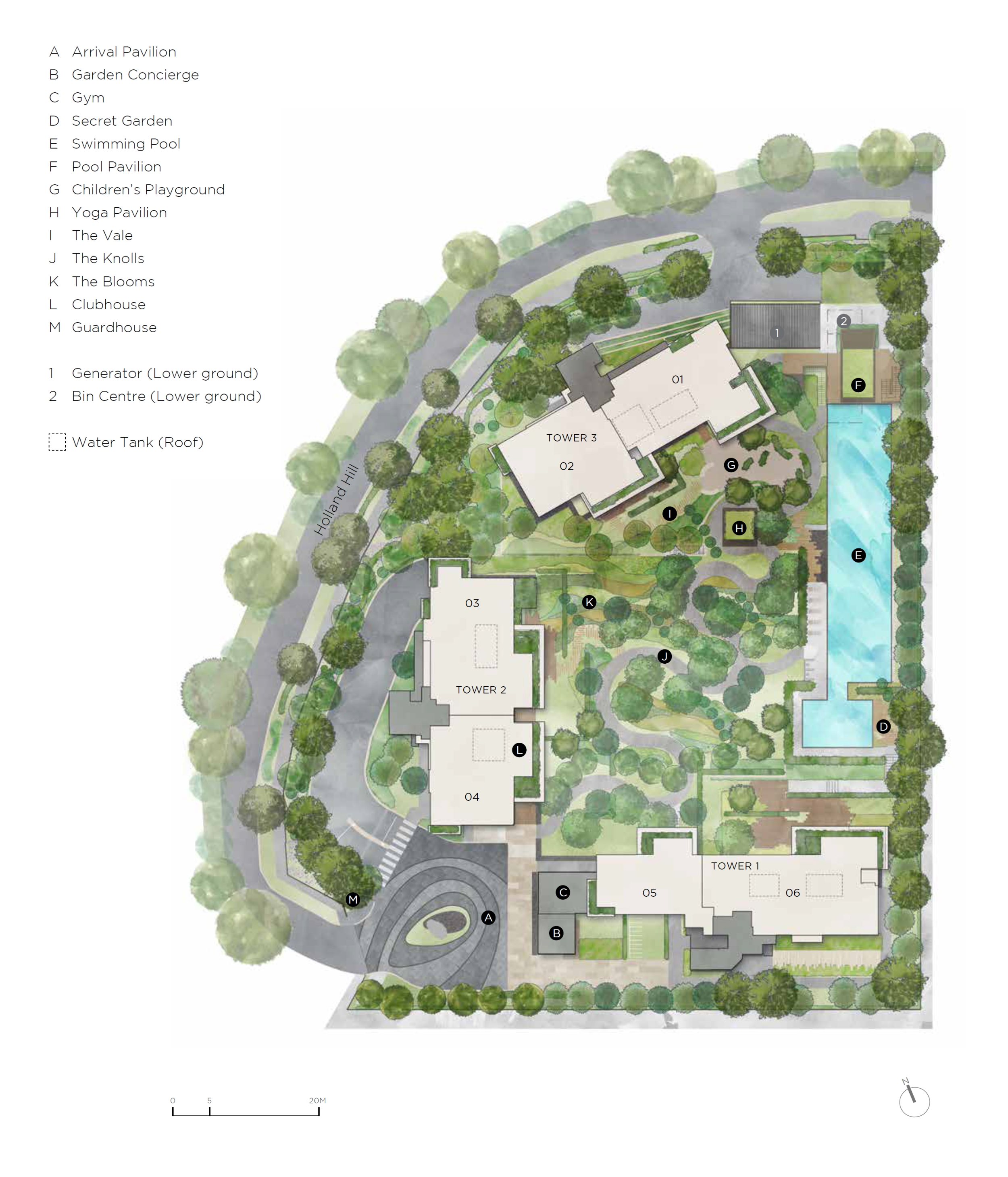 15 Holland Hill site plan