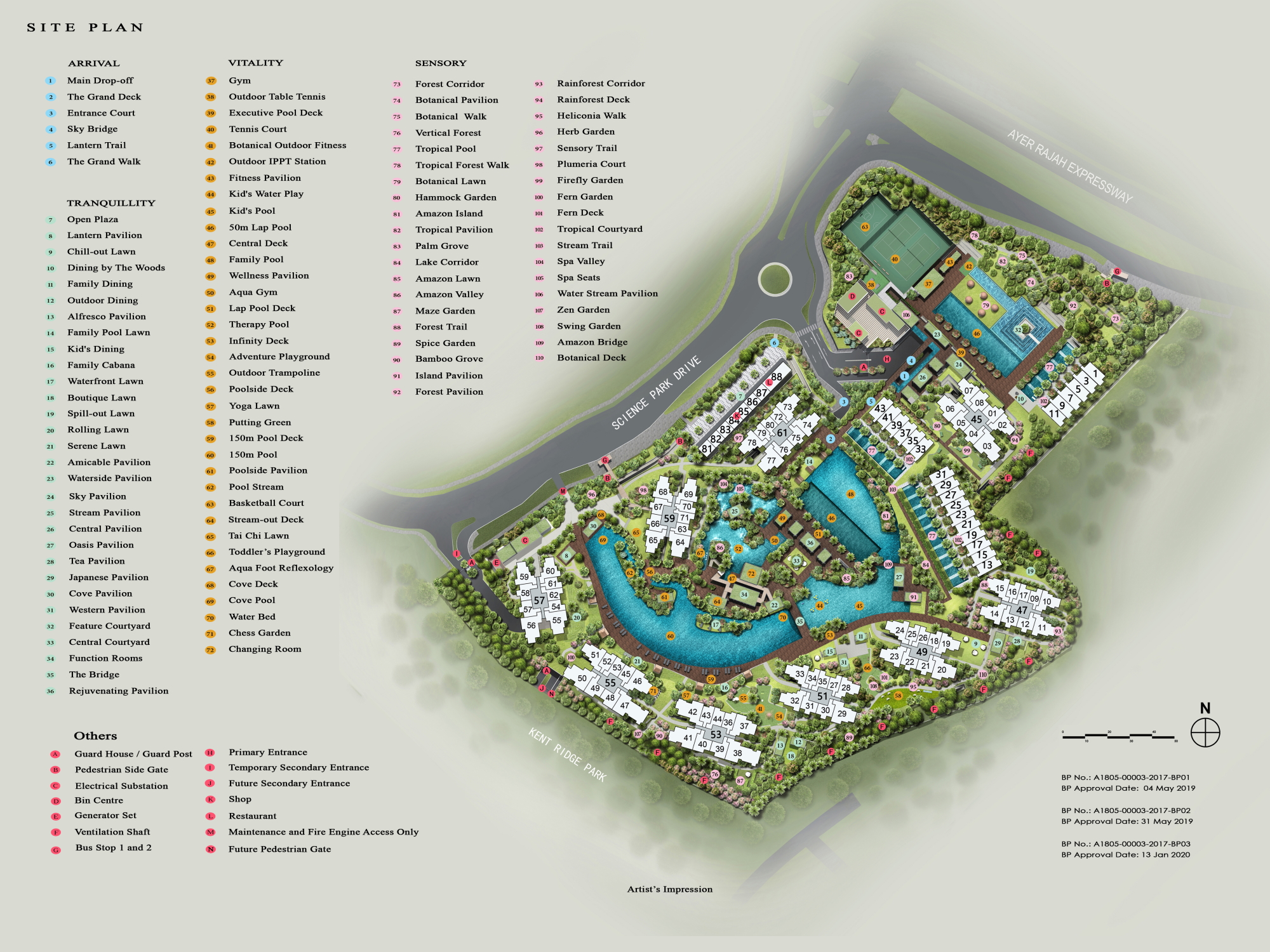 Normanton Park site plan