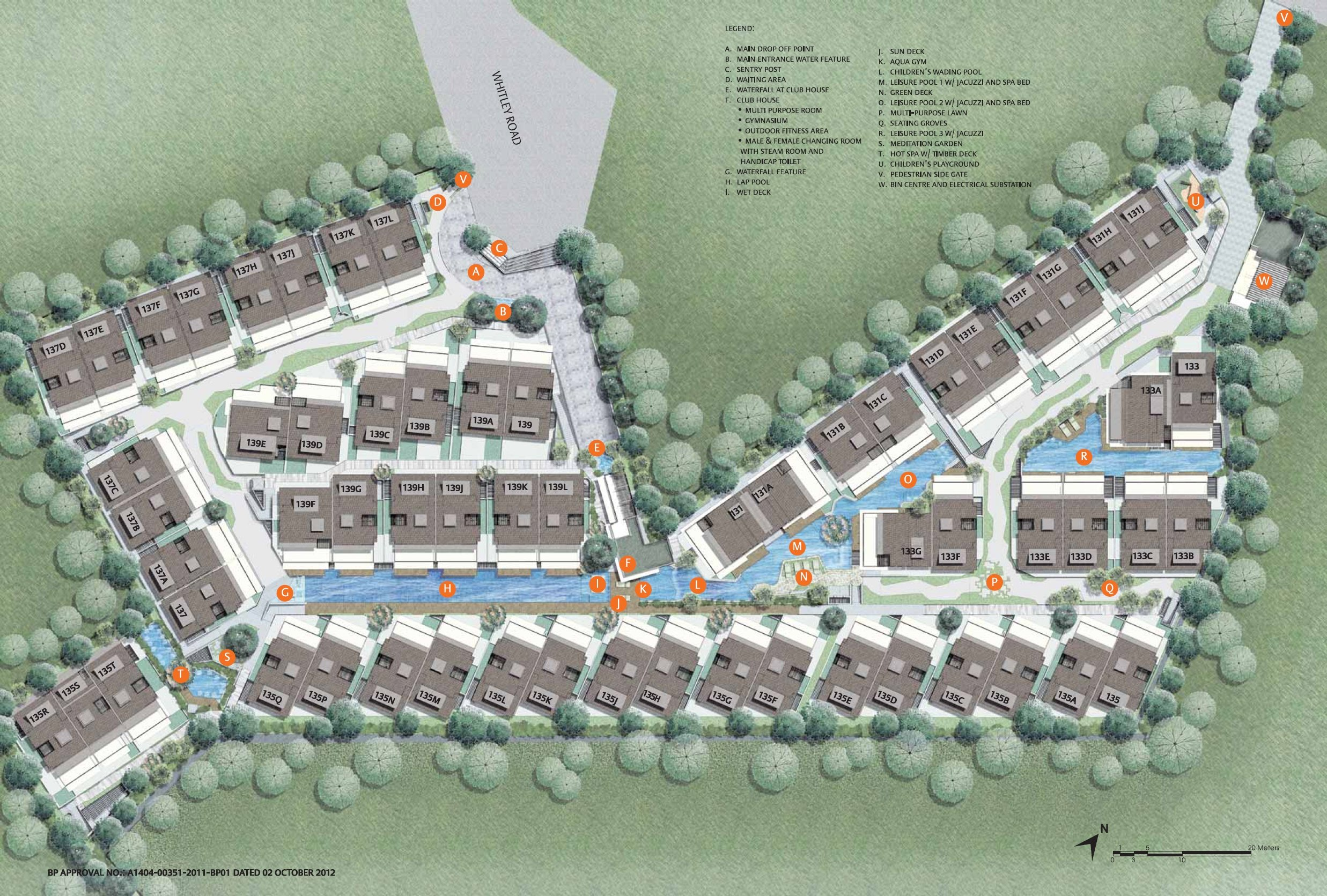 The Whitley Residences site plan