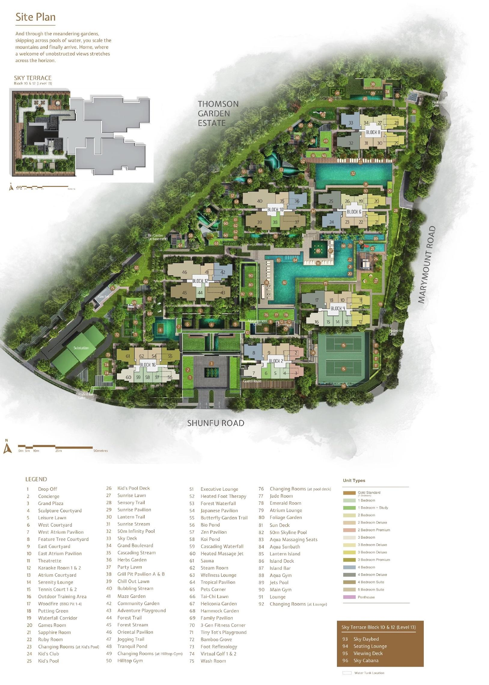 JadeScape 顺福轩 site plan
