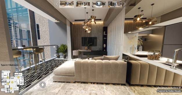 3D Virtual Tour of Wilshire Residences 1 Bedroom Type A