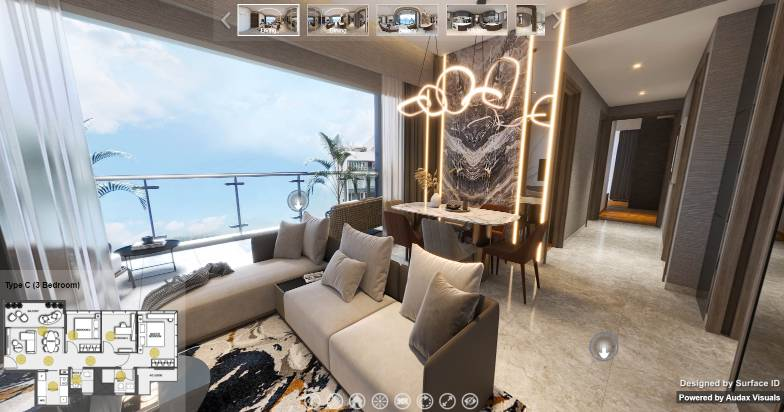 3D Virtual Tour of Wilshire Residences 3 Bedroom Type C