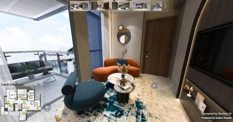 3D Virtual Tour of Wilshire Residences 2 Bedroom Type B