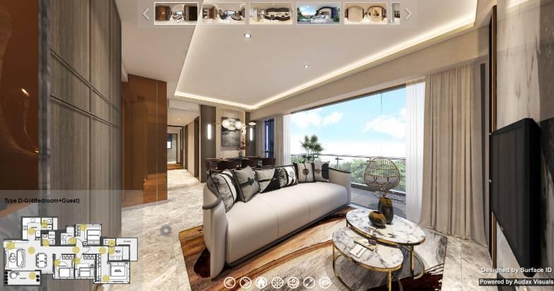 3D Virtual Tour of Wilshire Residences 4 Bedroom + Guest Type D-G