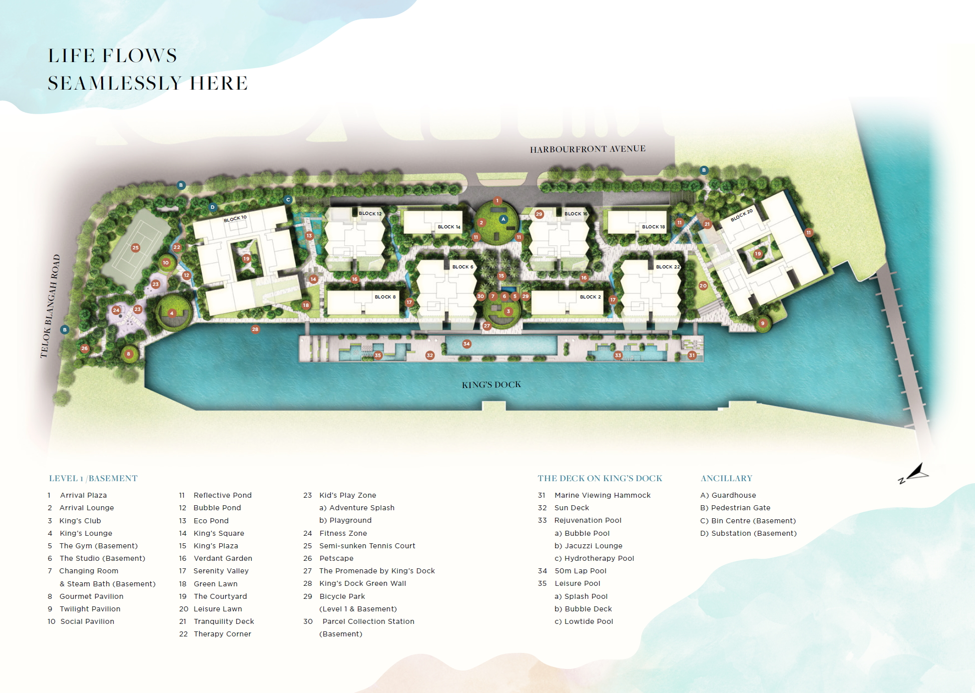 The Reef at King's Dock site plan