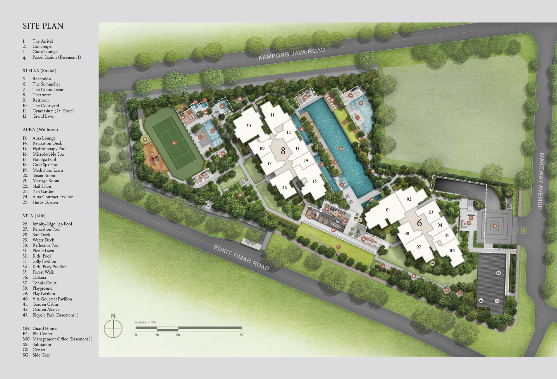 Kopar at Newton site plan
