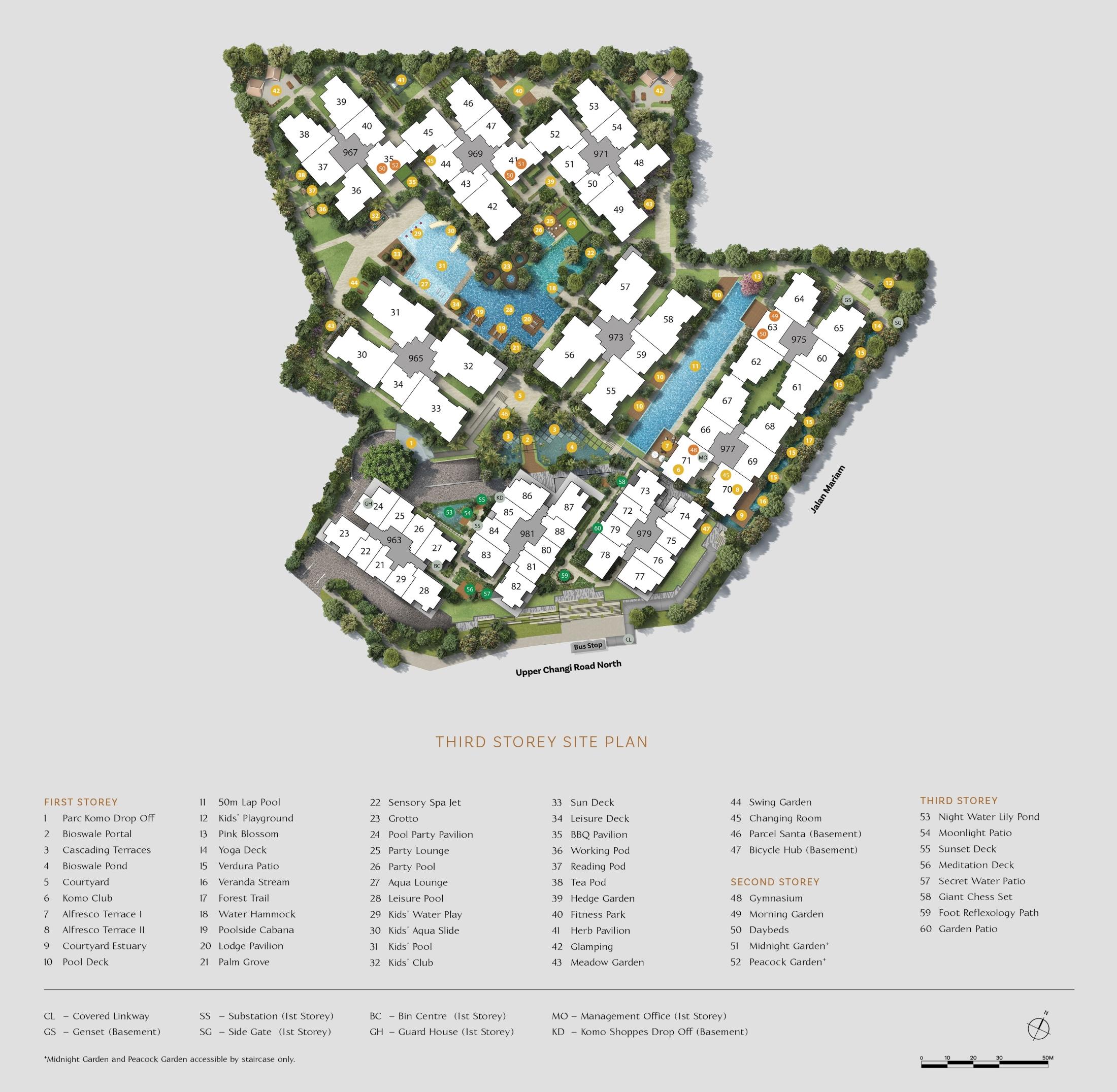 Parc Komo site plan