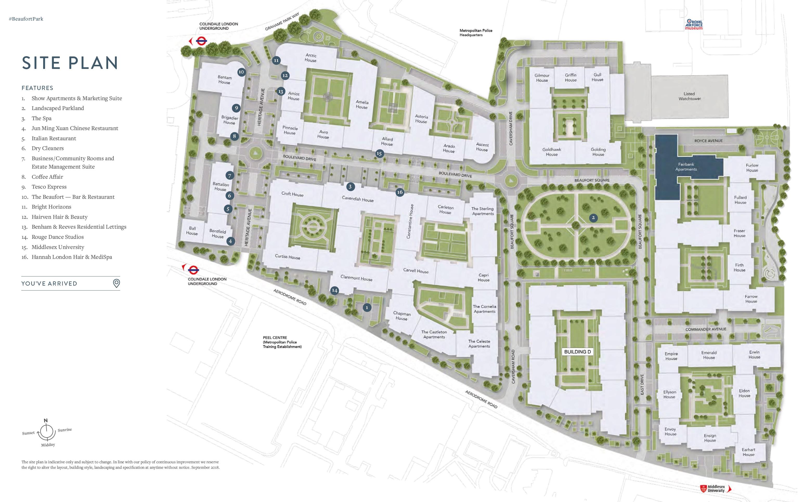 Beaufort Park site plan