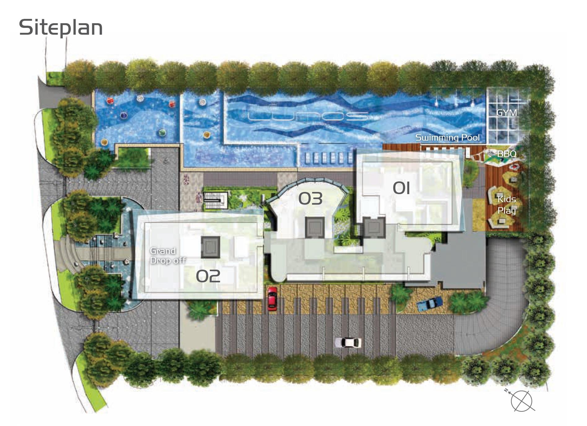 The Lumos site plan