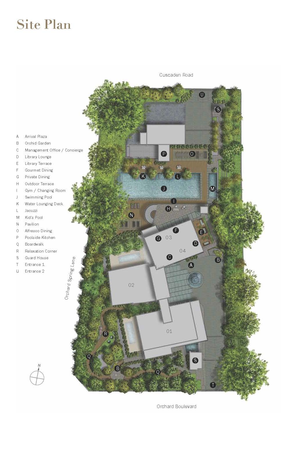 3 Orchard By-The-Park site plan